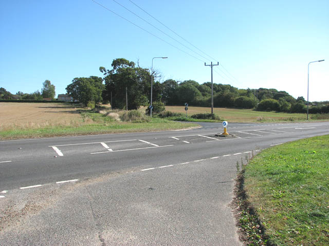 View across the A146 (Loddon Road)