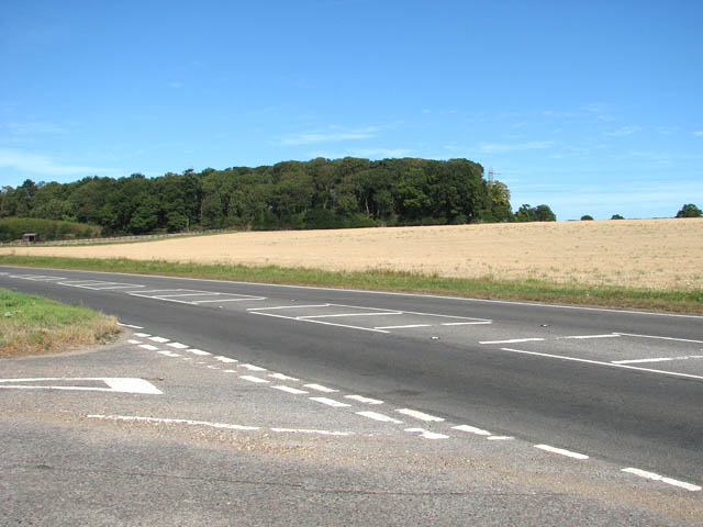 The A146 from the junction with Woolner's Lane