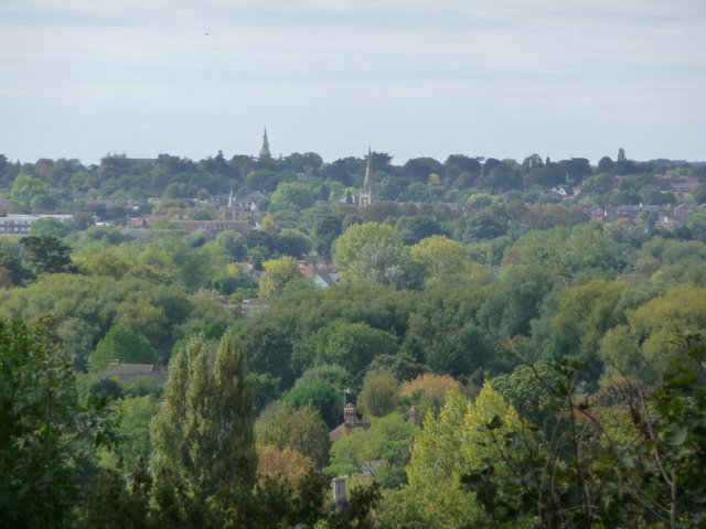 Maidenhead Town and Churches with Steeples (Boyn Hill on Horizon)