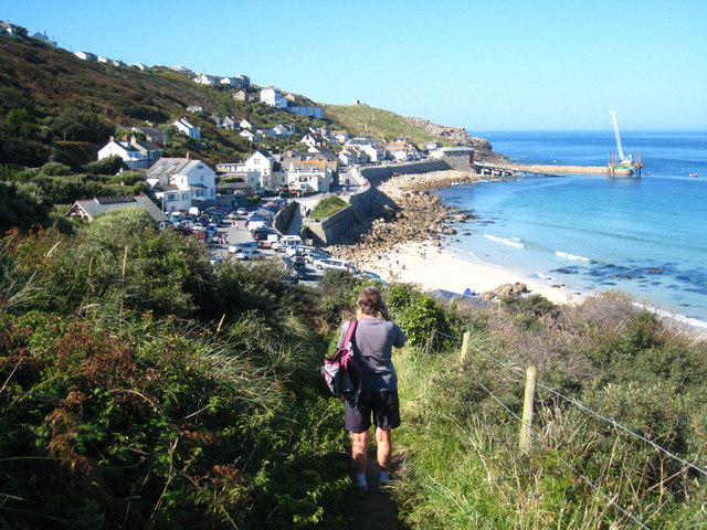 Sennen Cove from the coastal footpath