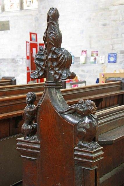 St Margaret, King's Lynn, Norfolk - Bench end