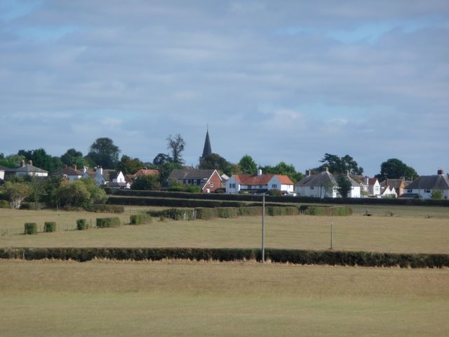 Burnham Church and Lent Rise Road from Boundary Road
