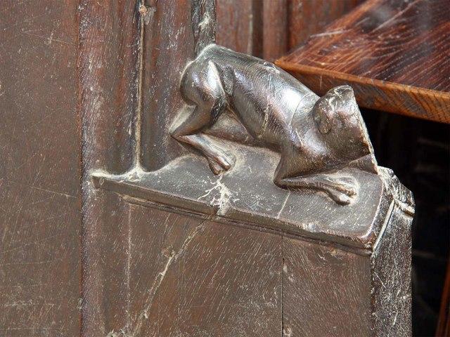 St Margaret, King's Lynn, Norfolk - Bench elbow