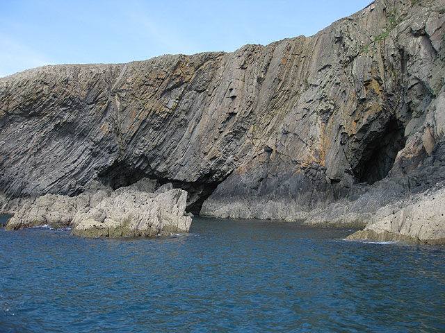 Cave and cliffs, Ramsey Island