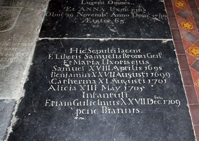St Margaret, King's Lynn, Norfolk - Ledger slab