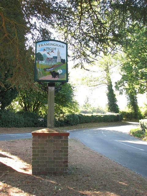 Village sign at junction of Fox Road and The Street