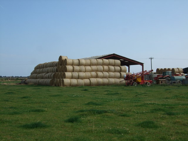 Hay bales at Huttoft