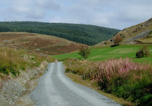 Rebuilt road from Dolgoch, Cwm Tywi, Ceredigion