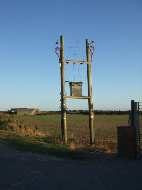 Transmission line beside Pump Station at Sandilands