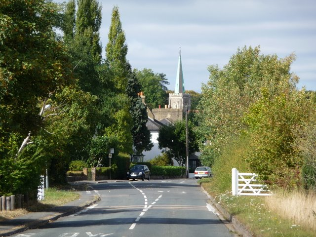 St. Nicholas church Taplow from Boundary Road