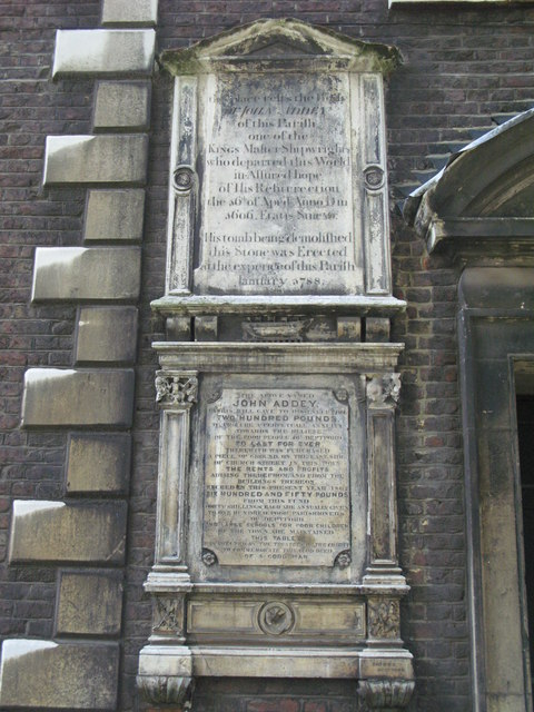 St. Nicholas' Church, Deptford Green, SE8 - memorial slabs near the north door