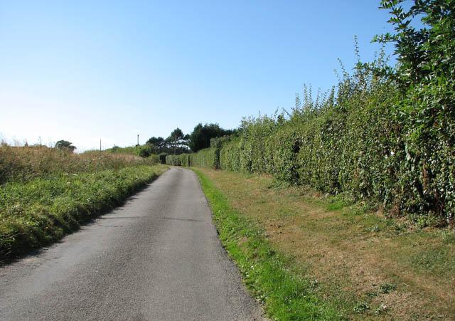 View south-west along Sallow Lane