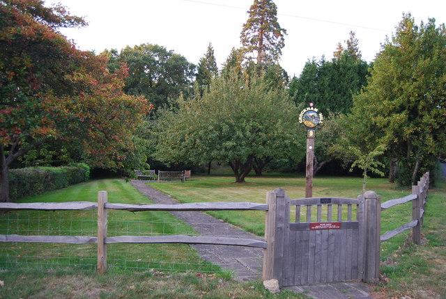 Village Garden & Sign, Crockham Hill