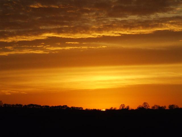 Sunset from Upper Coberley