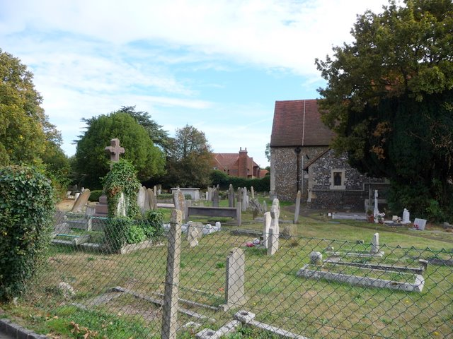 St Mary's churchyard and Farnham Court (House)