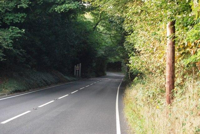 B269 north of Crockham Hill
