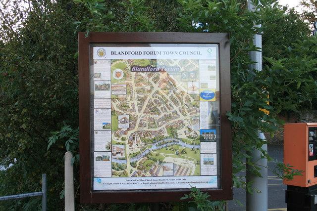 Blandford Forum town plan