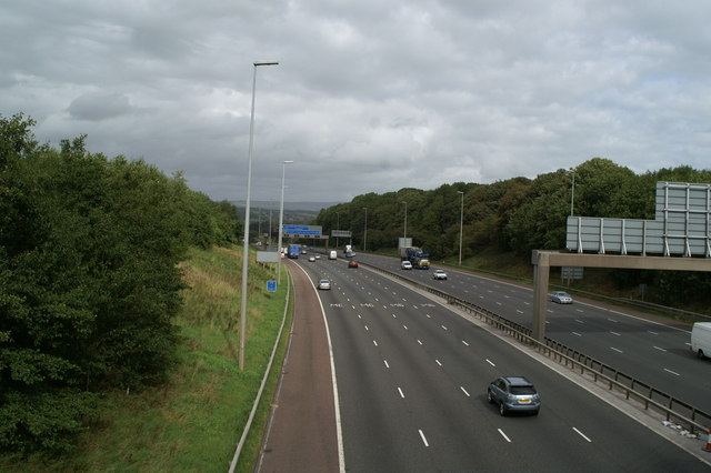 The M6 from the B6230 bridge