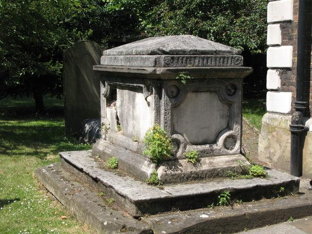 St. Nicholas' Church, Deptford Green, SE8 - tomb near the south porch