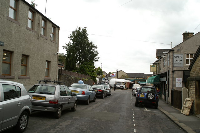 Street leading to Clitheroe Market