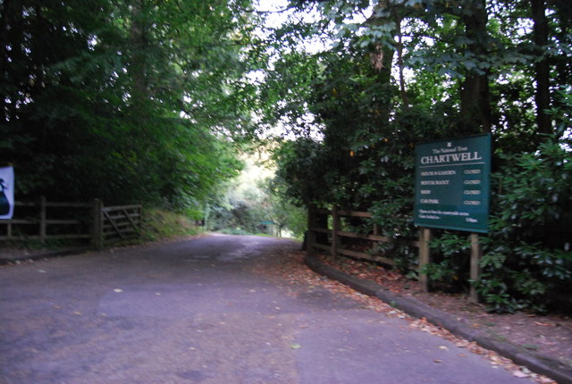 The entrance to Chartwell, Mapleton Rd