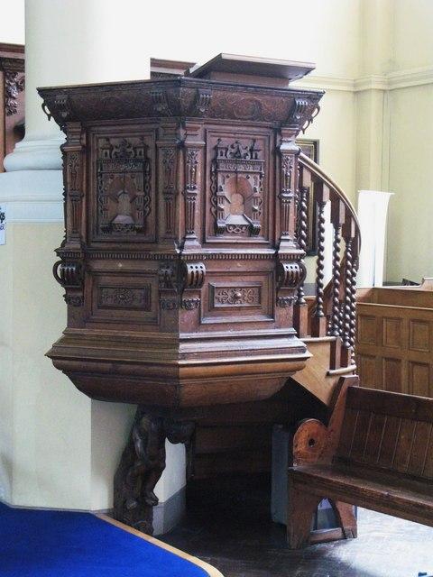 St. Nicholas' Church, Deptford Green, SE8 - pulpit