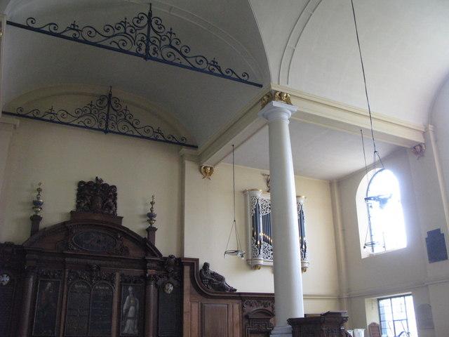 St. Nicholas' Church, Deptford Green, SE8 - ceiling detail