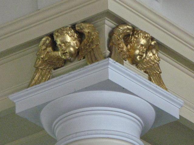 St. Nicholas' Church, Deptford Green, SE8 - pretty putti near the ceiling