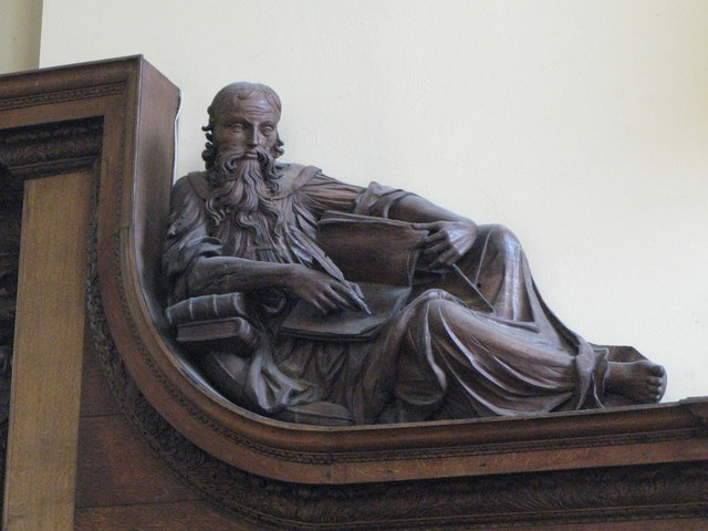 St. Nicholas' Church, Deptford Green, SE8 - carved figure of Isiah