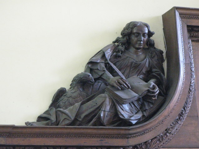 St. Nicholas' Church, Deptford Green, SE8 - carved figure of St. John