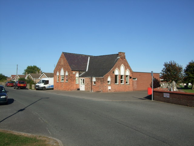 Old school building in Church Lane Sutton on Sea