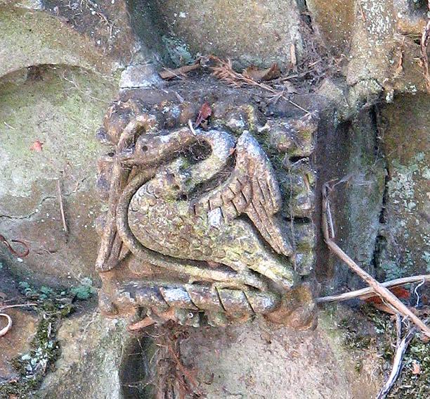 Decorative brick - a Tudor Swan