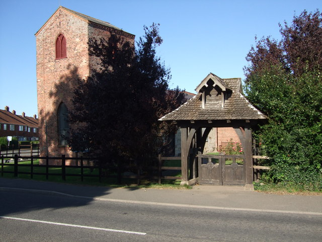 Lychgate at St Clements Church Sutton on Sea