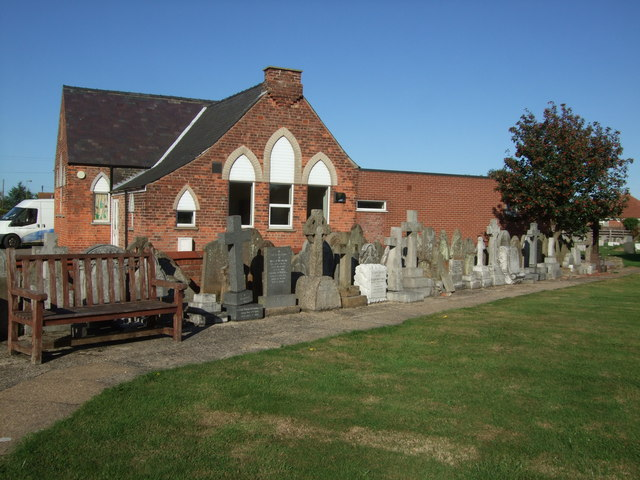 Gravestones in St Clements Churchyard Sutton on Sea