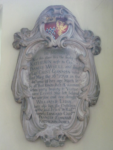 St. Nicholas' Church, Deptford Green, SE8 - memorial to Katherin Wivell, 1713