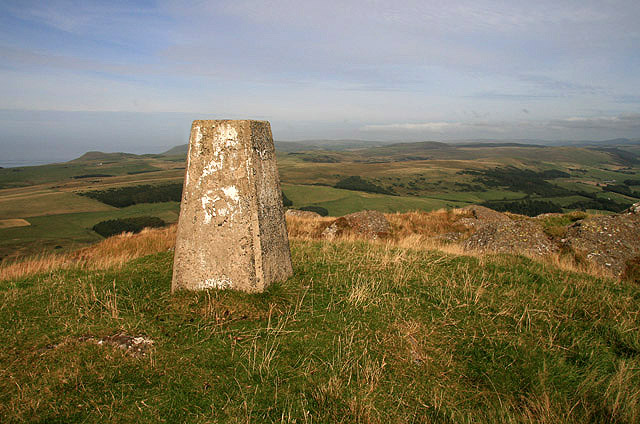 The trig point on Knockdolian