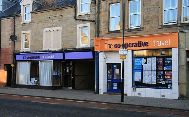 Co-operative premises in Channel Street, Galashiels
