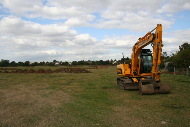 Digger in the field