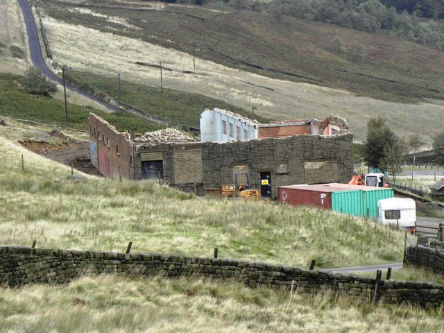 The former water treatment works in course of demolition