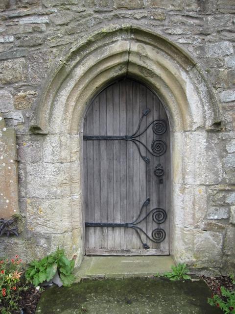 St Oswald's tower door