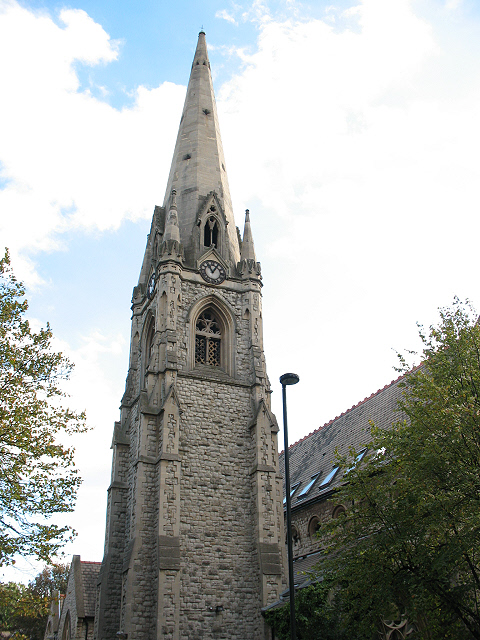 Spire of the former St James's Church, Camberwell