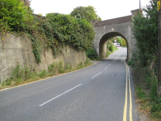 Pulborough: A283 Stopham Road railway bridge