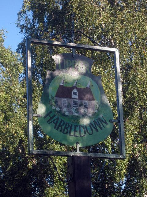 Upper Harbledown Village Sign