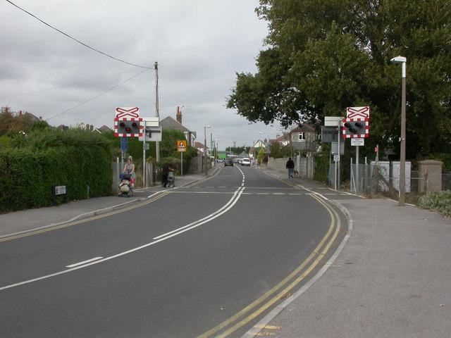 Hamworthy, level crossing