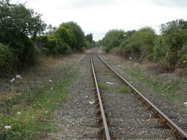 Hamworthy, railway line