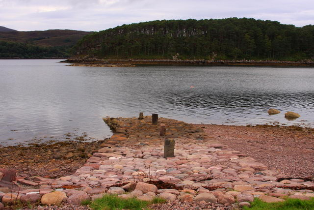 Shieldaig - old jetty.