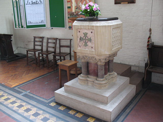 St Mary Magdalene, Wandsworth Common: font