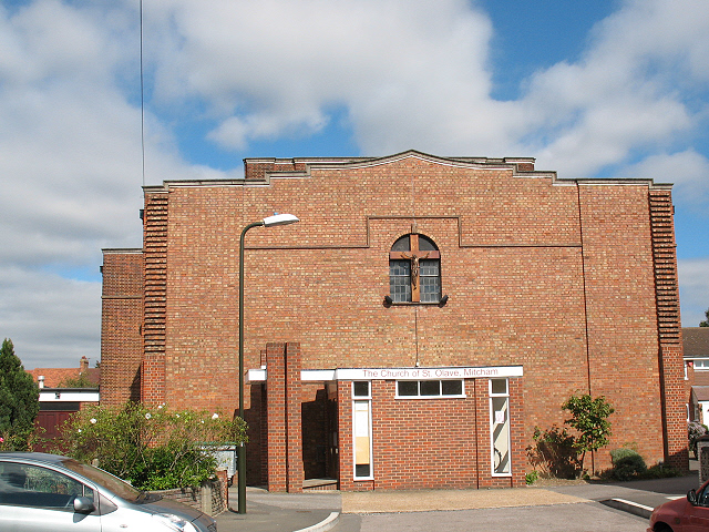 St Olave's church, Mitcham: south side