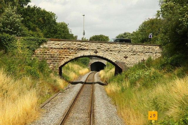 First Turn Bridge over the railway