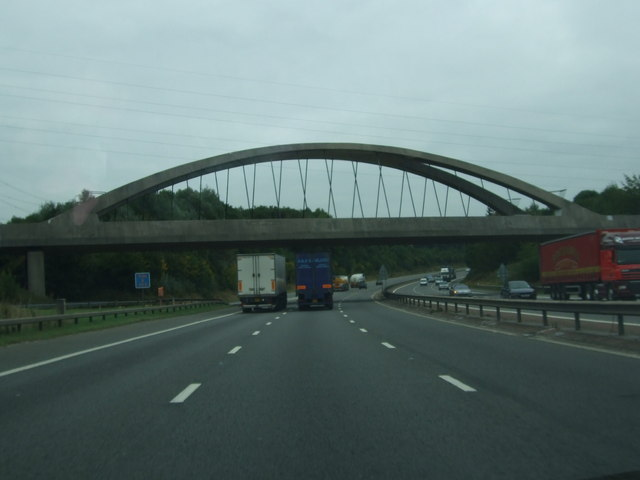 Railway bridge over M56 near Runcorn turnoff